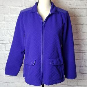 Talbot's Purple Fleece Jacket
